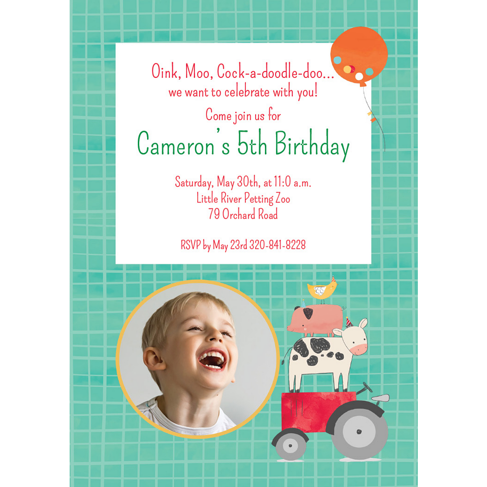 Custom Barnyard Photo Invitations Image #1