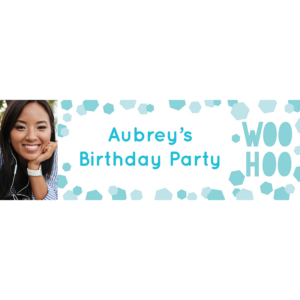Custom Shimmering Party Photo Horizontal Banner Image #1