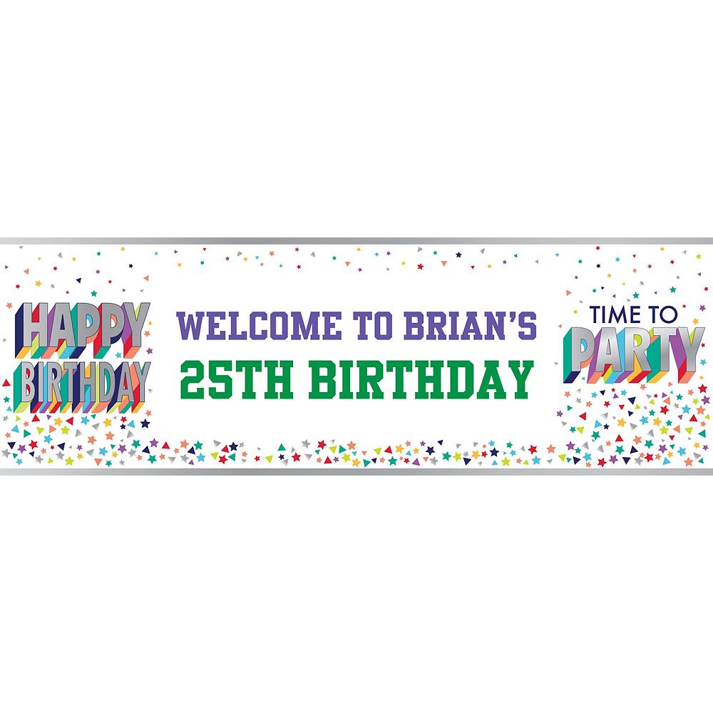 Custom Here's to Your Birthday Horizontal Banner Image #1