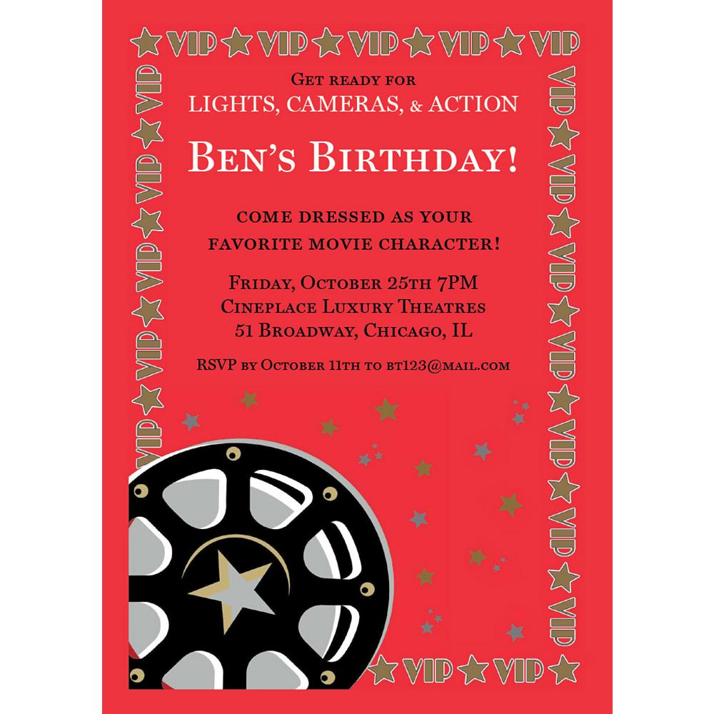 Custom Director's Cut Invitations Image #1