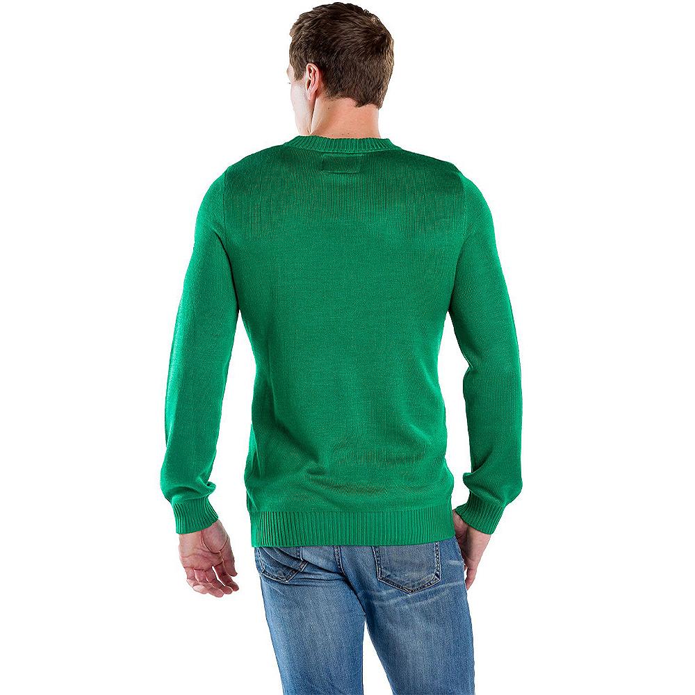 Adult Birthday Jesus Ugly Christmas Sweater Image #2