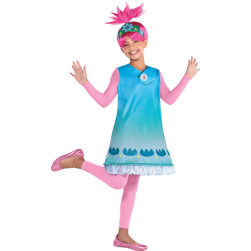 Child Queen Poppy Costume - Trolls World Tour Image #1