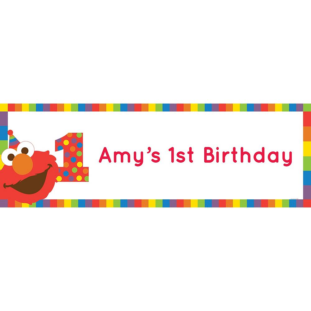 Custom Elmo 1st Birthday Horizontal Banner Image #1