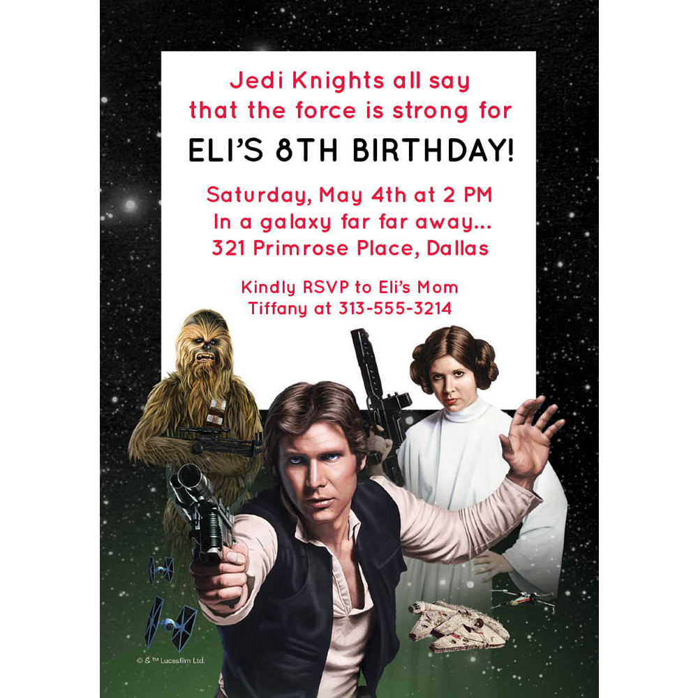 Custom Star Wars Invitations Image #1