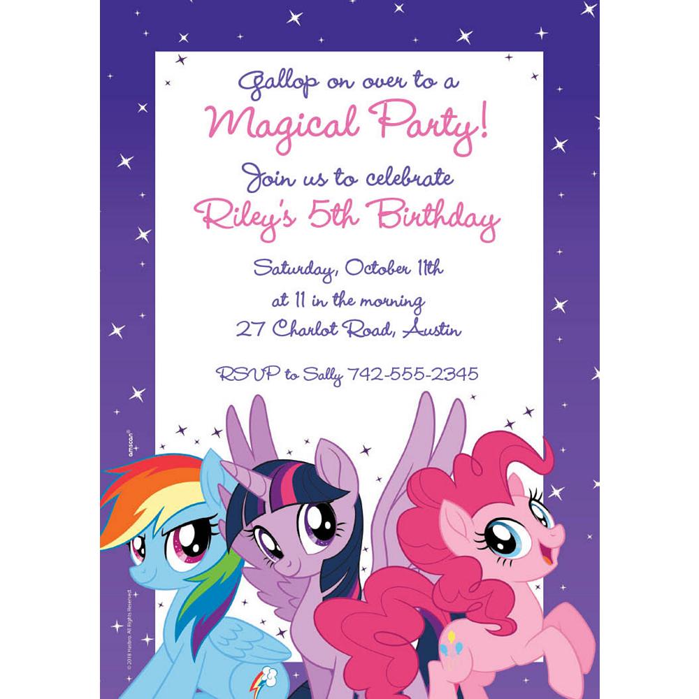 Custom My Little Pony Invitations Image #1