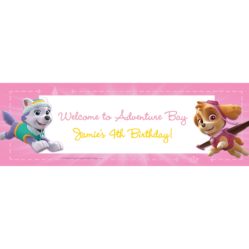 Nav Item for Custom Pink PAW Patrol Banner Image #1