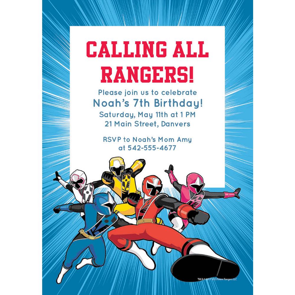 Custom Power Rangers Ninja Steel Invitations Image #1
