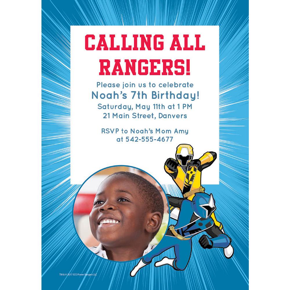 Custom Power Rangers Ninja Steel Photo Invitations Image #1