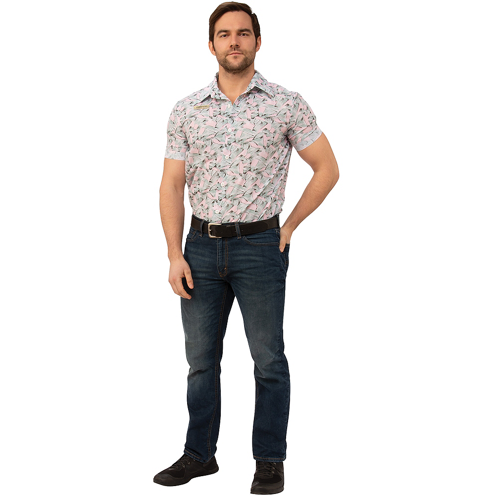 Adult Hopper Hawaiian Shirt - Stranger Things Image #1