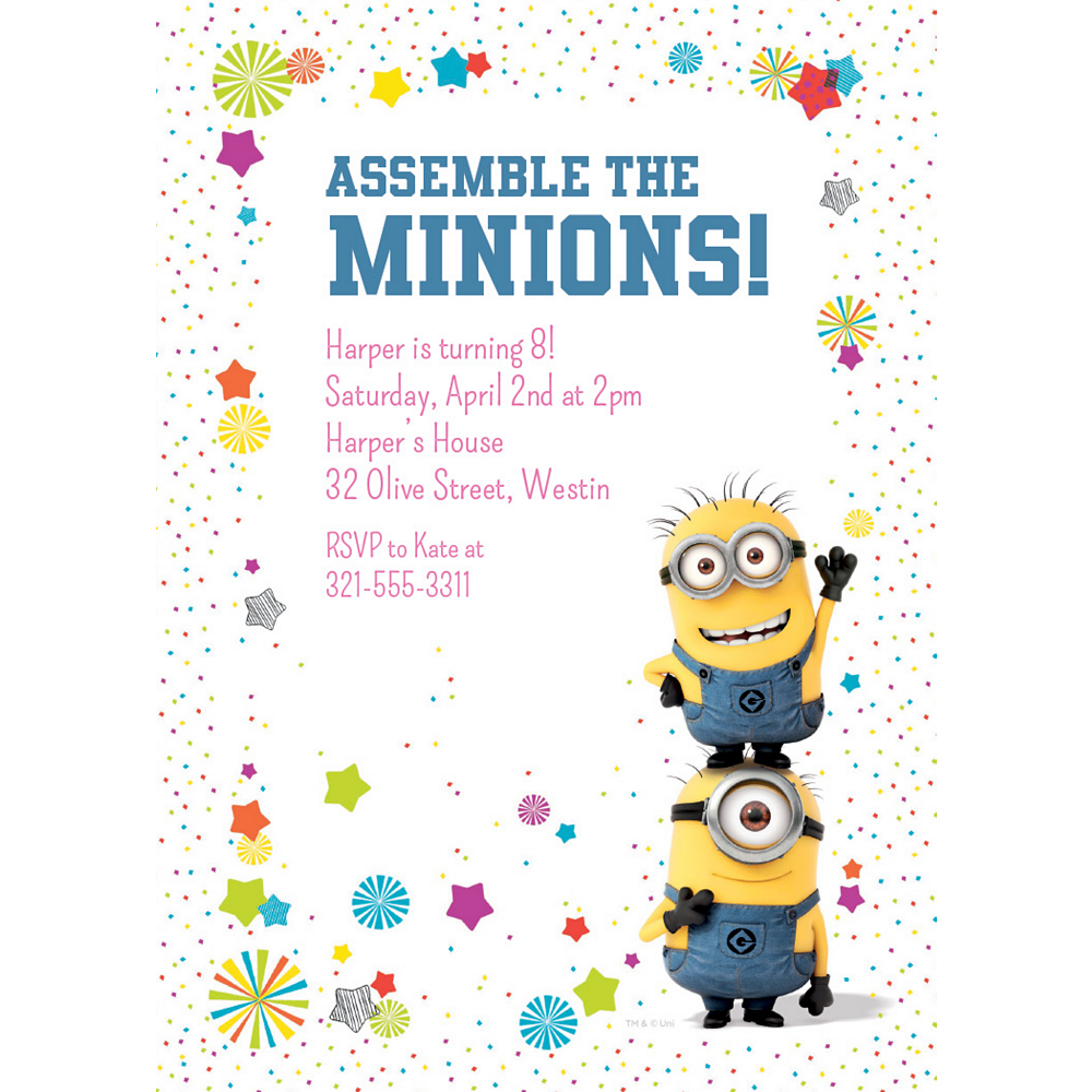 Despicable Me Minion Sorry Youre Leaving Card-Large