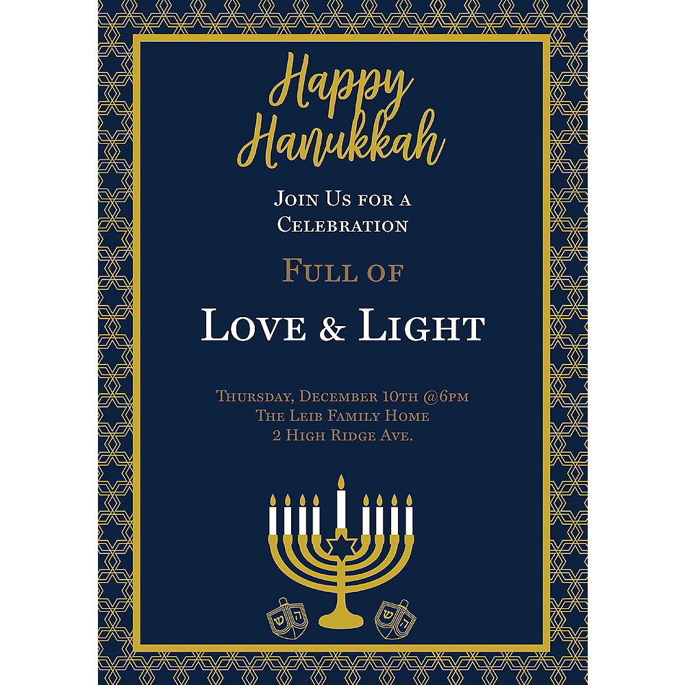 Custom Hanukkah Celebration Invitations Image #1