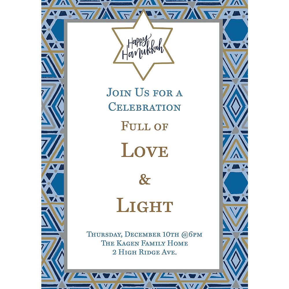 Custom Festival of Lights Hanukkah Invitations Image #1