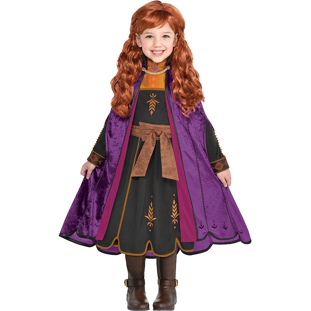 Child Act 2 Anna Costume with Wig - Frozen 2 Image #1