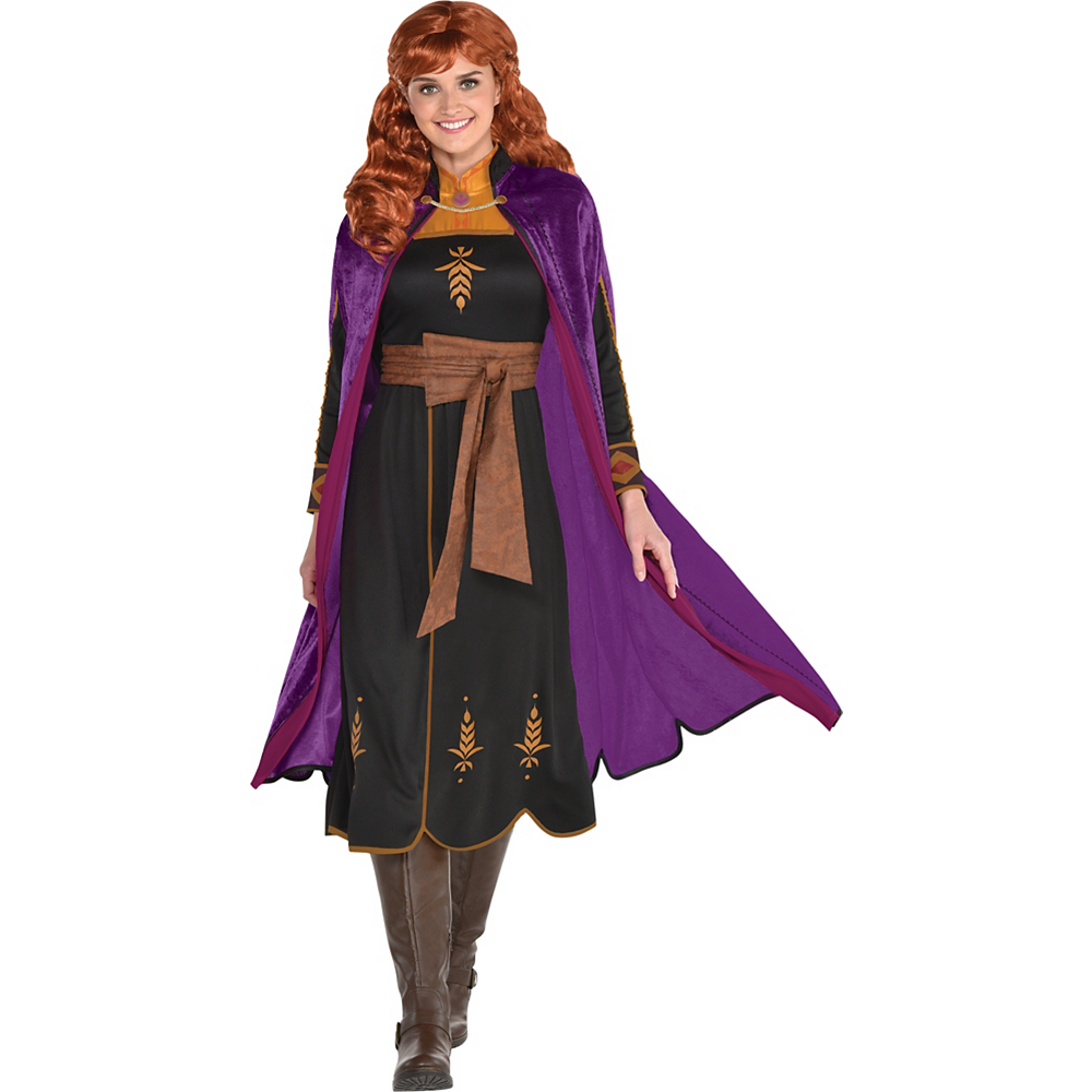 Adult Act 2 Anna Costume with Wig - Frozen 2 Image #1
