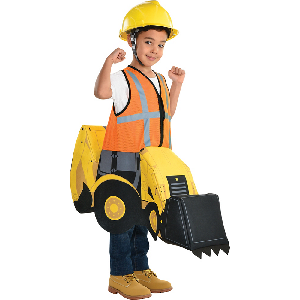 Child Construction Digger Ride-On Costume Image #1
