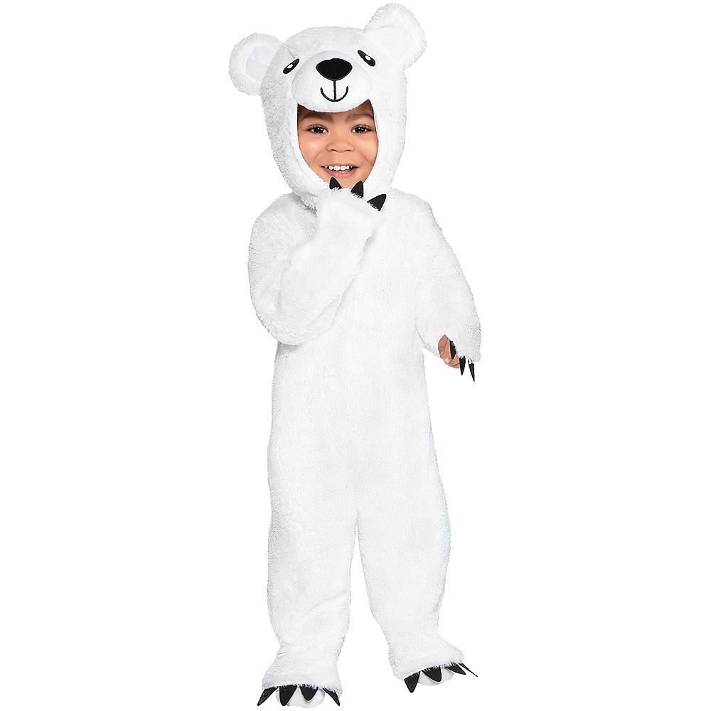 Baby Soft Cuddly Polar Bear Costume Image #1