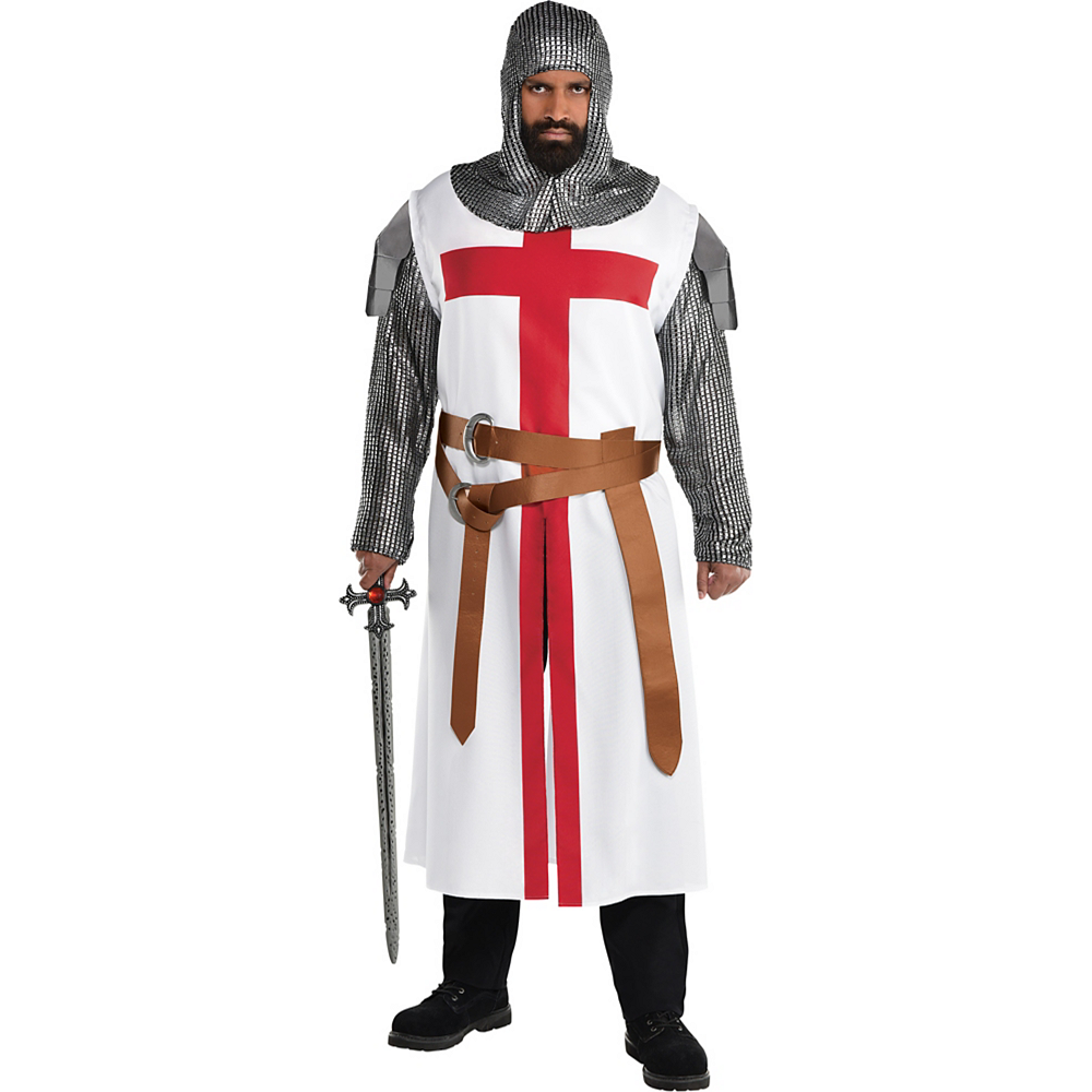 Adult Crusader Warrior Costume Plus Size Image #1
