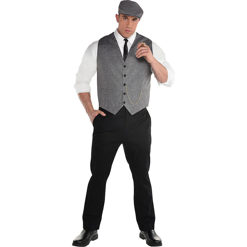 Adult Roaring 20s Dapper Man Costume Plus Size Image #1
