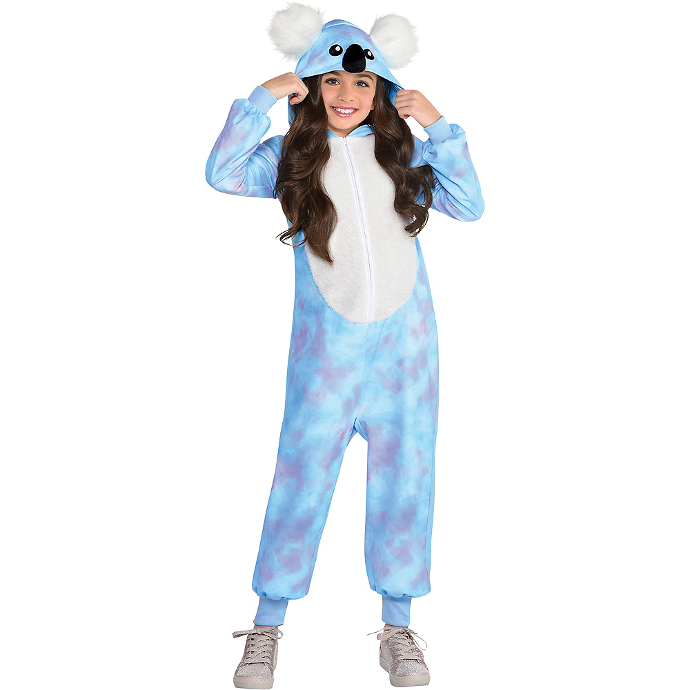 Child Zipster Blue Koala One-Piece Costume Image #1