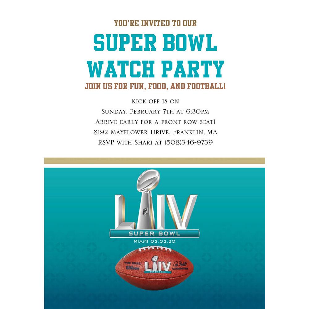 Custom Super Bowl Invitations Image #1