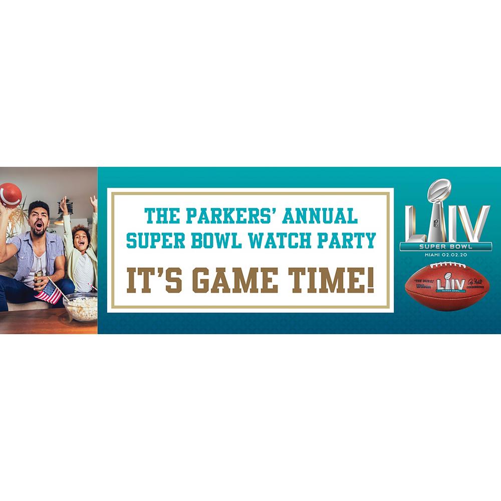 Custom Super Bowl Photo Horizontal Banner Image #1