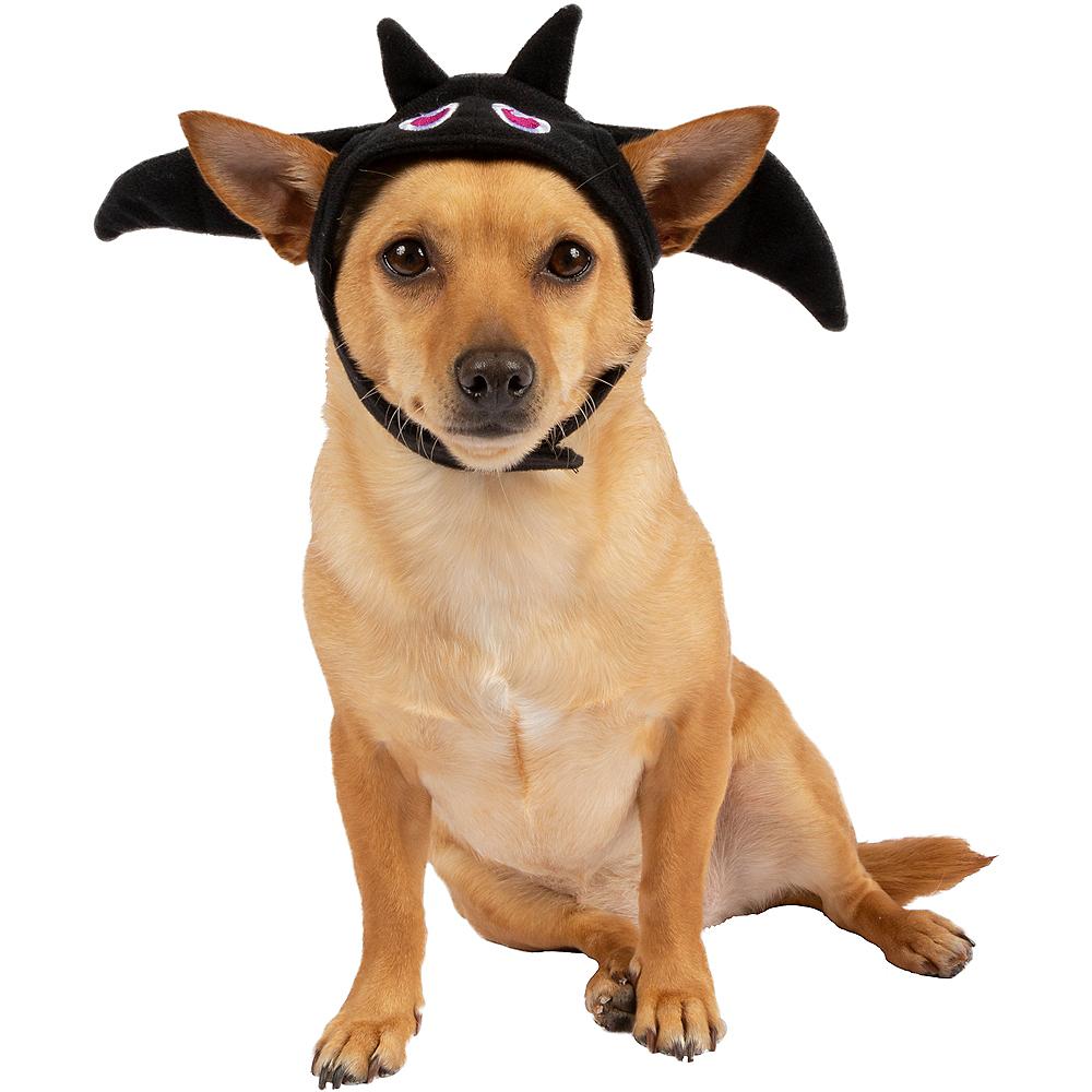 Black Bat Dog Costume Hat Image #1