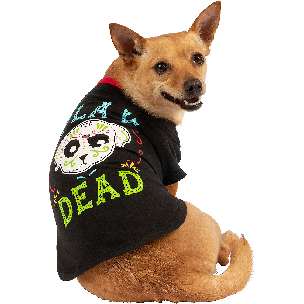 Nav Item for Black Play Dead Sugar Skull Dog T-Shirt Image #1
