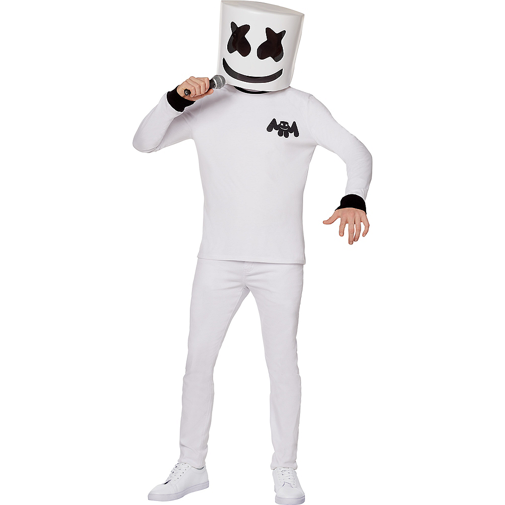 Nav Item for Adult Marshmello Costume Image #1