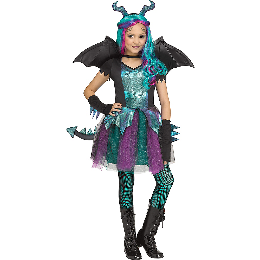 Child Dark Dragon Costume Image #1