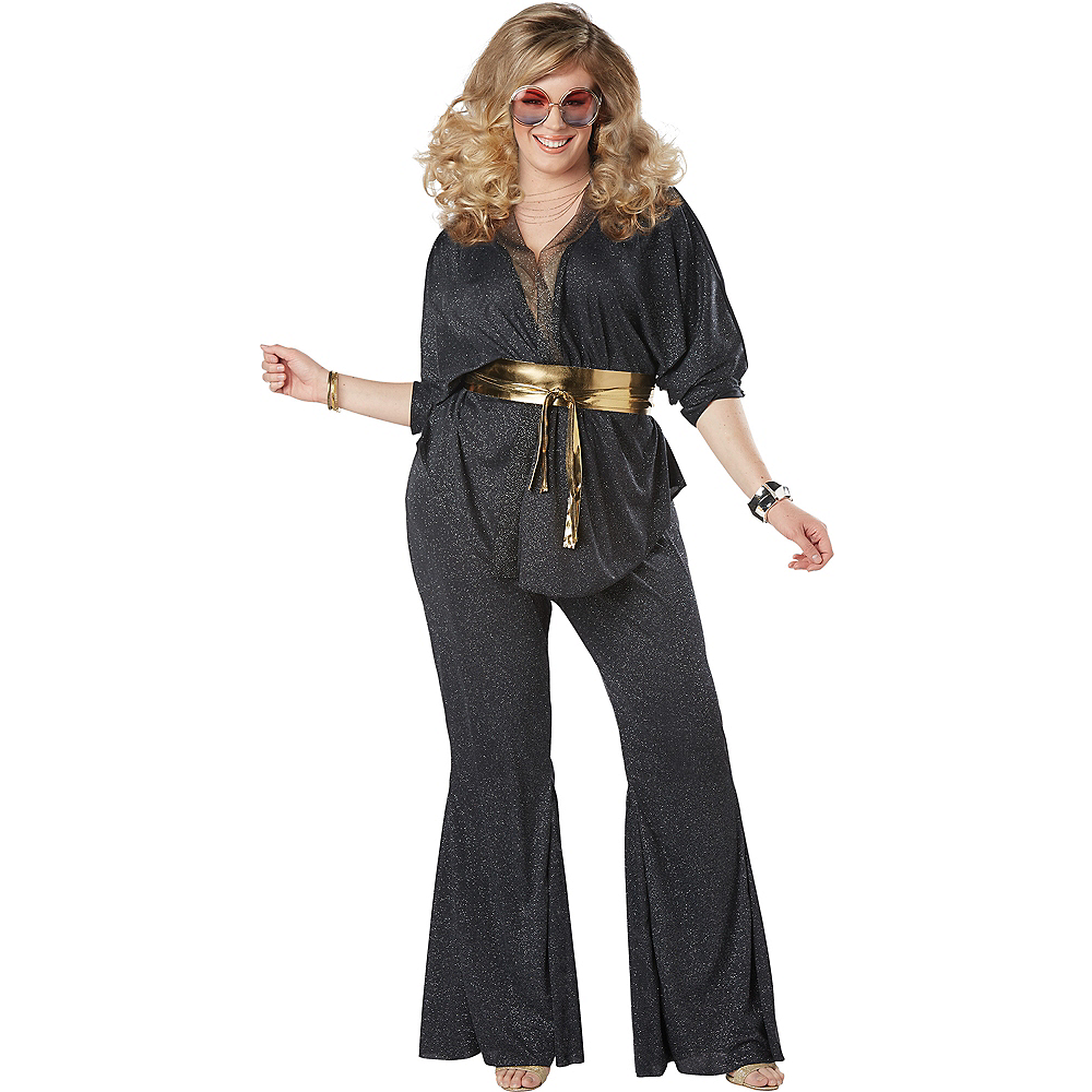 Adult Disco Dazzler Costume Plus Size Image #1