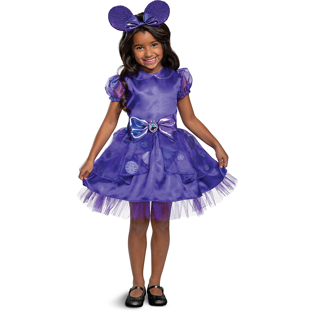Child Purple Minnie Mouse Costume Image #1