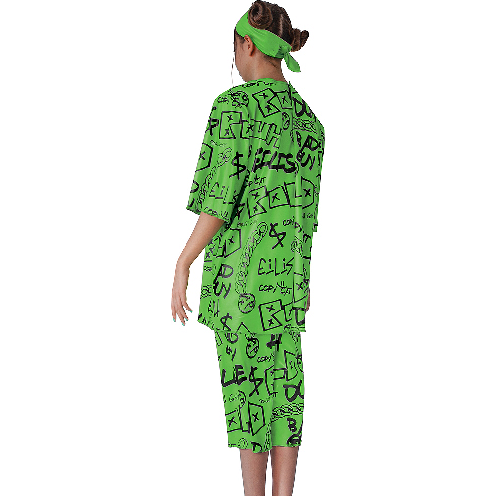 Child Green Billie Eilish Costume Image #2