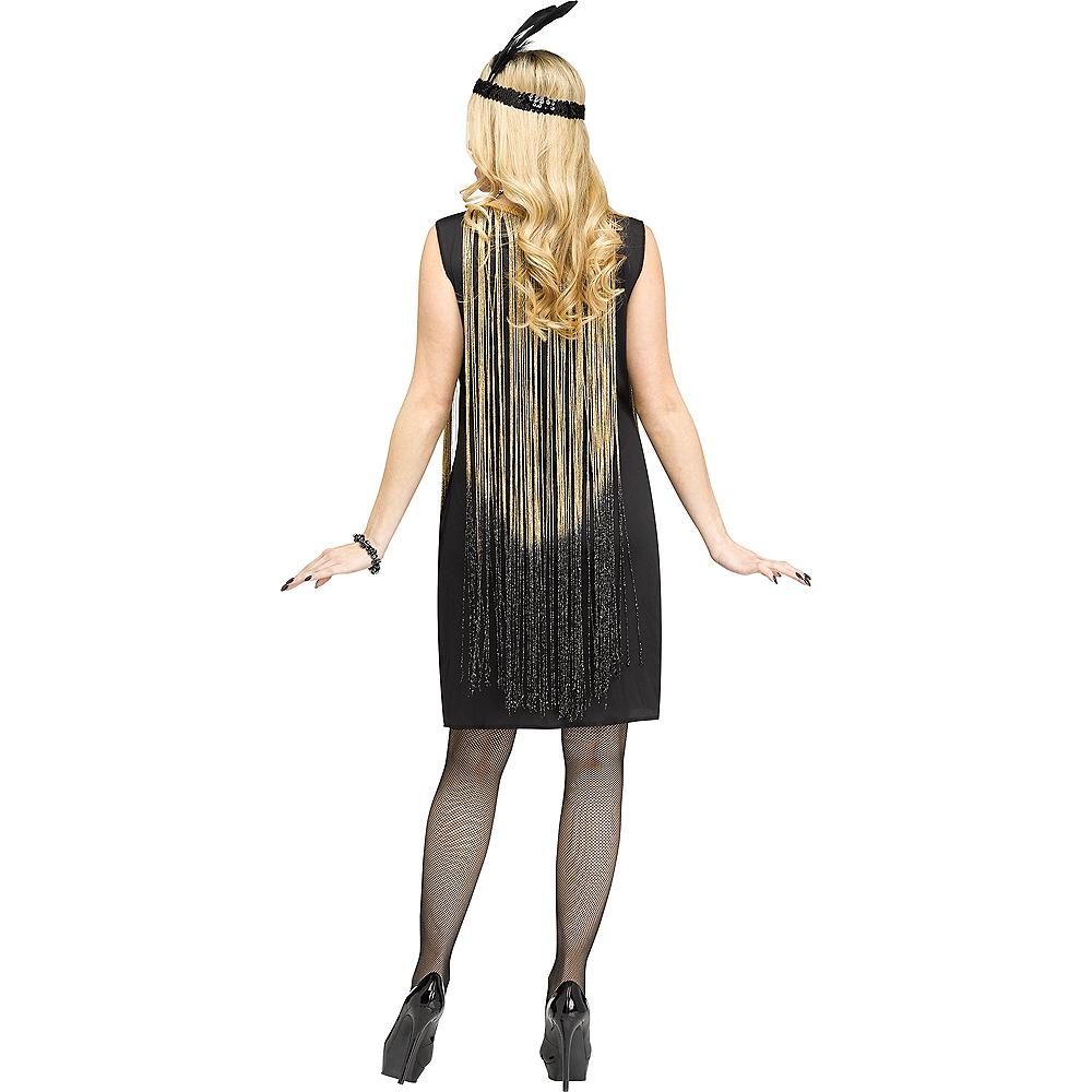 Adult Gold Flirty Flapper Costume Image #2