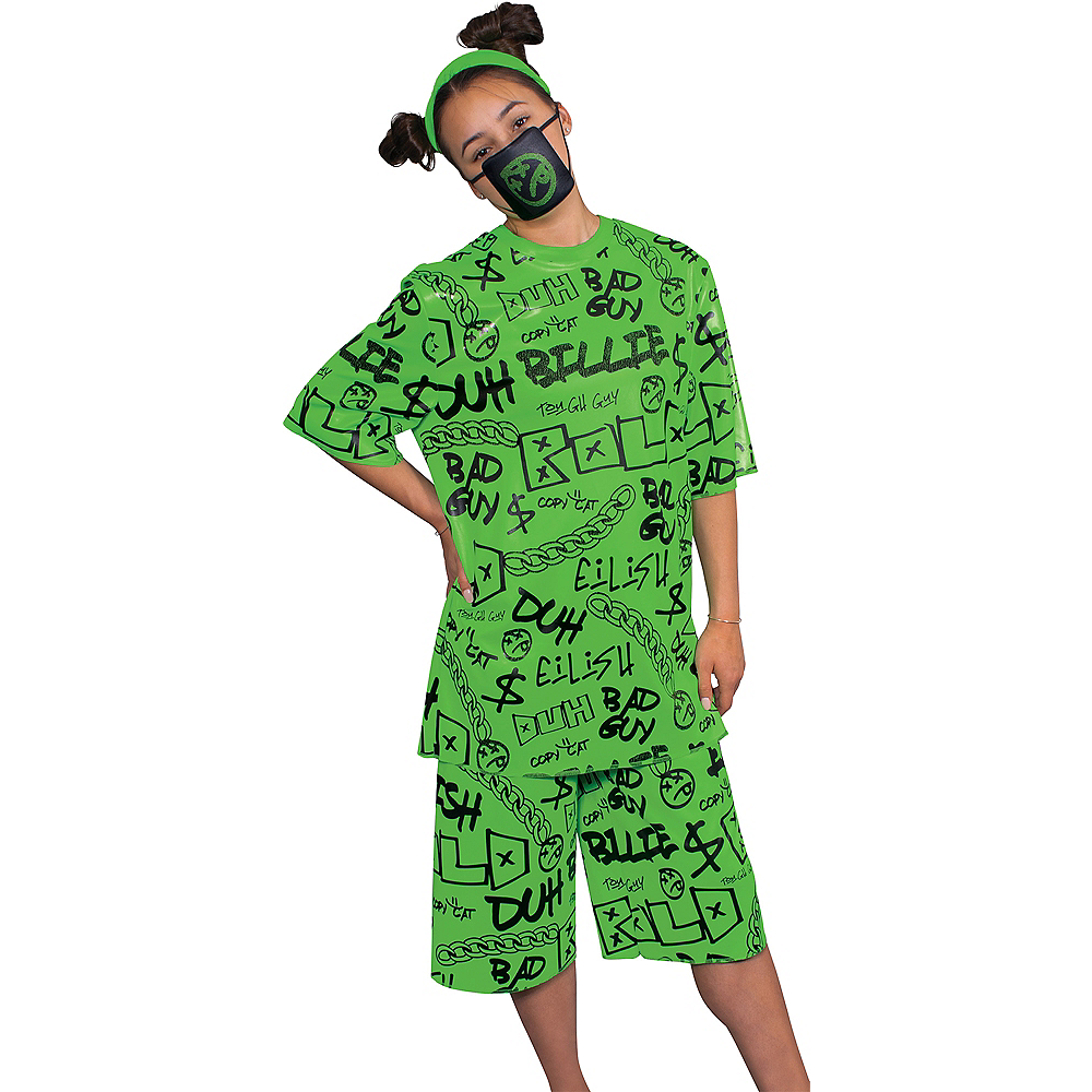 Green Billie Eilish Costume For Adults Party City