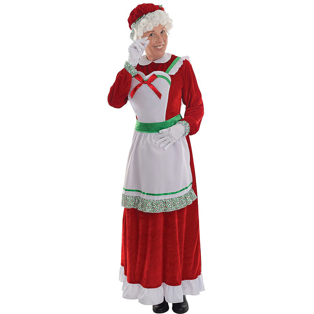 Mrs. Santa Claus Costume for Adults Image #1