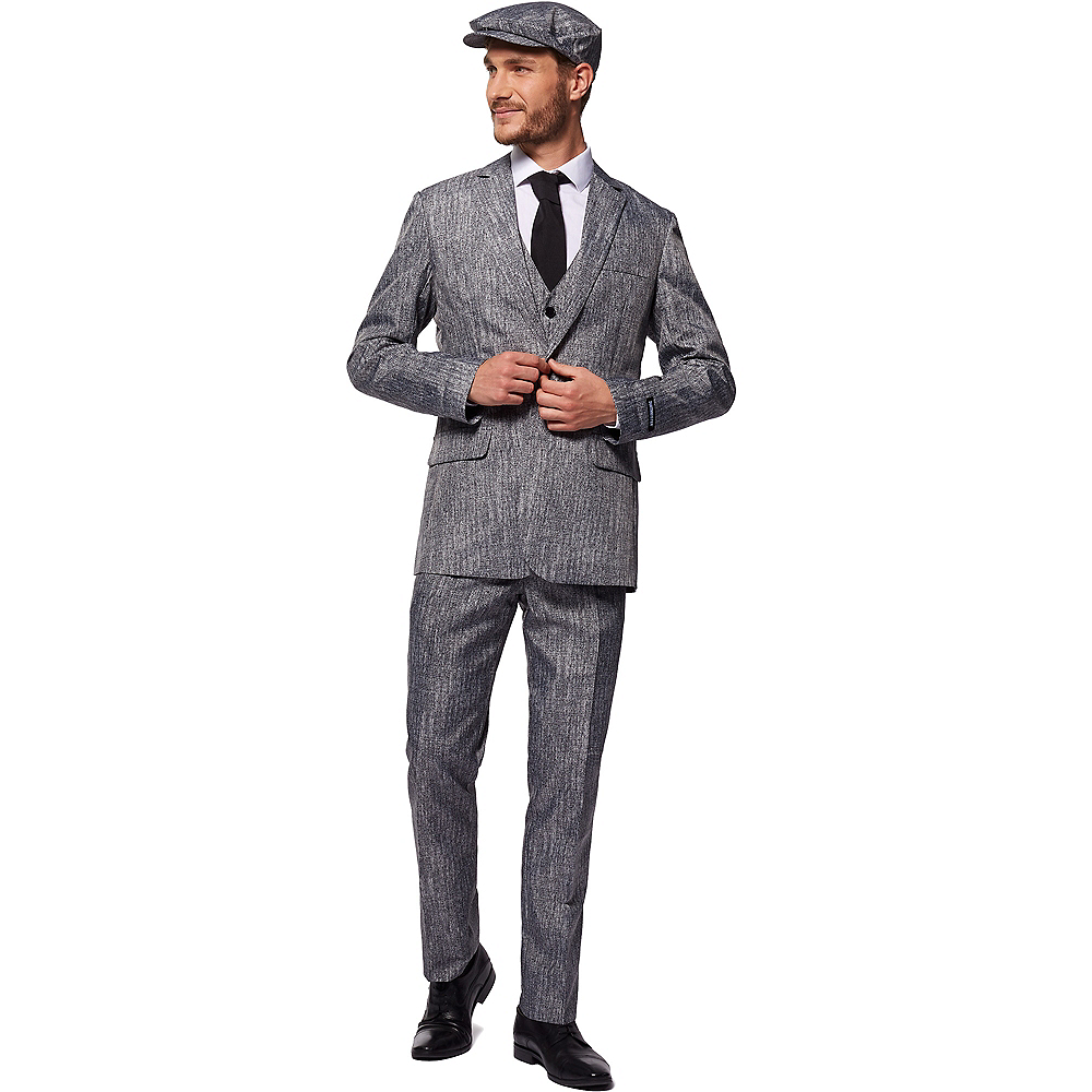 Adult Gray 20s Gangster Costume Image #1