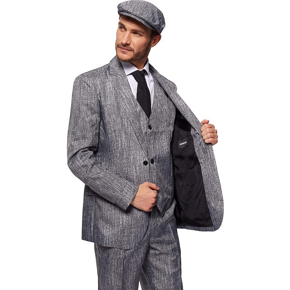 Adult Gray 20s Gangster Costume Image #3