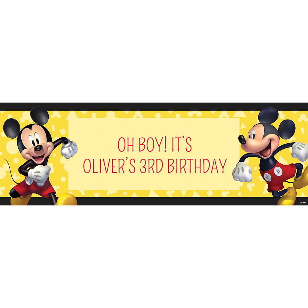 Custom Mickey Mouse Forever Horizontal Banner Image #1
