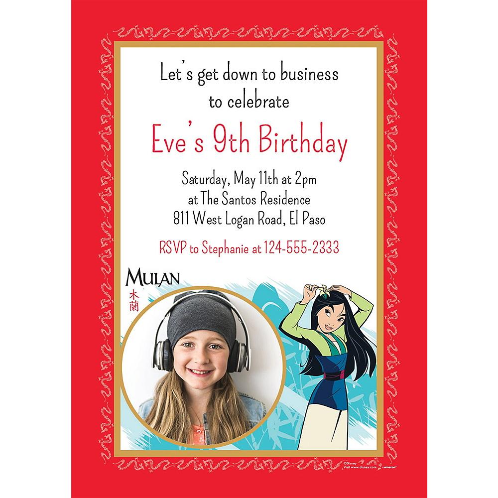 Custom Mulan Photo Invitations Image #1
