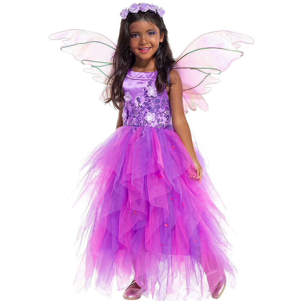 Child Light-Up Flower Fairy Costume Image #1