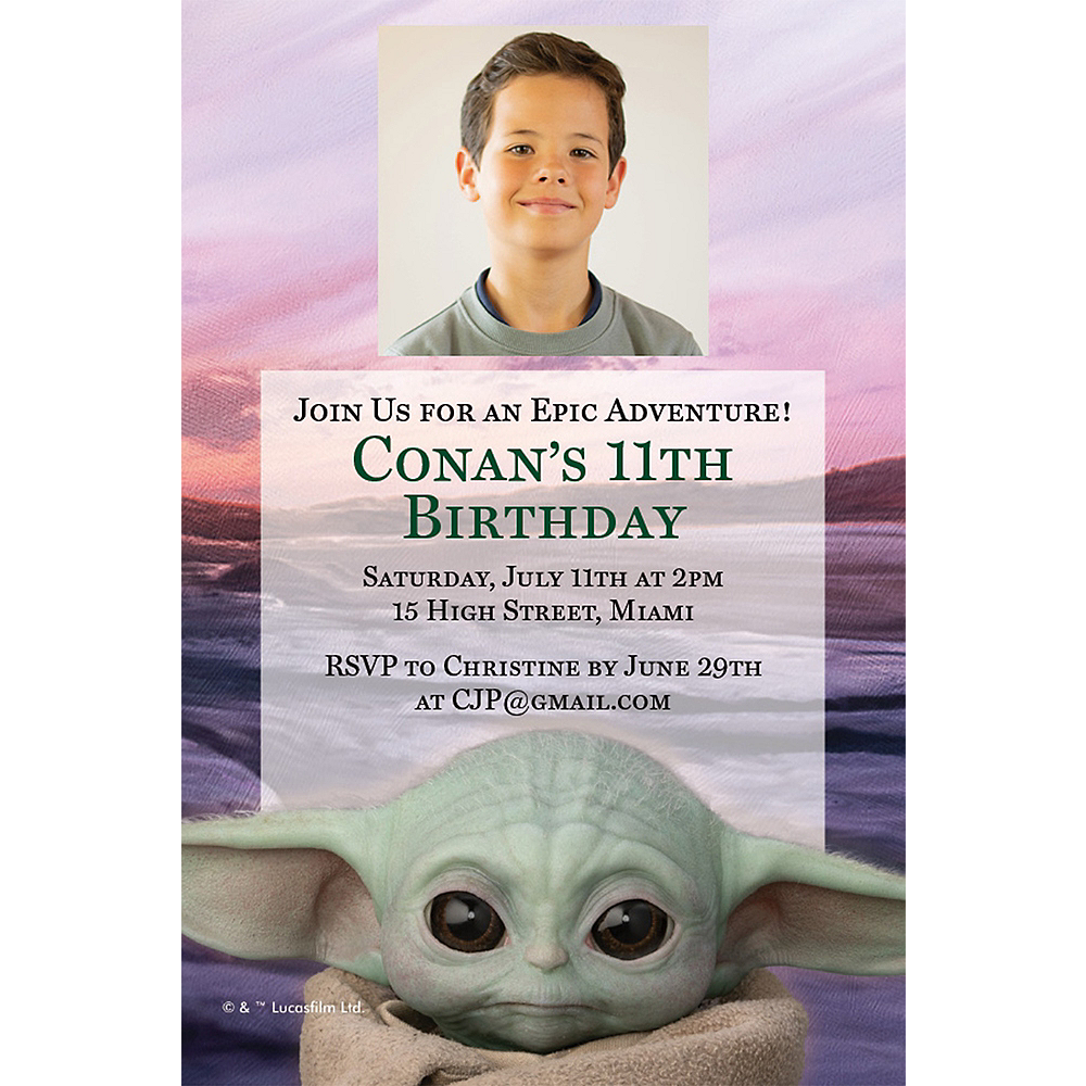 Custom The Child Photo Invitations - The Mandalorian Image #1