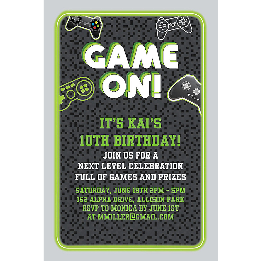 Custom Level Up Invitations Image #1