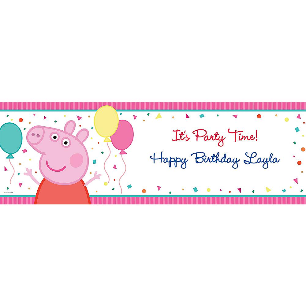 Custom Peppa Pig Horizontal Banner Image #1