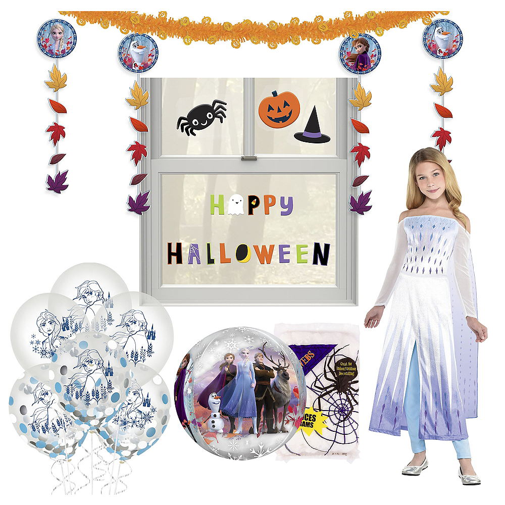 Nav Item for Disney Frozen 2 Halloween Car Parade Kit with Elsa Costume for Kids Image #1