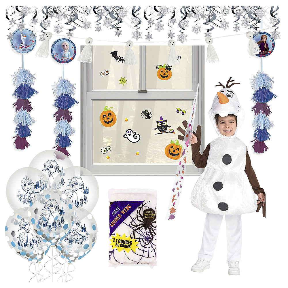 Disney Frozen 2 Halloween Car Parade Kit with Olaf Costume for Kids Image #1