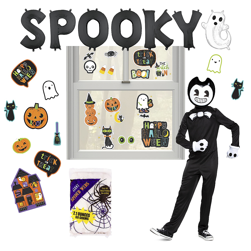 Nav Item for Bendy And The Ink Machine Halloween Car Parade Kit with Bendy Costume for Kids Image #1