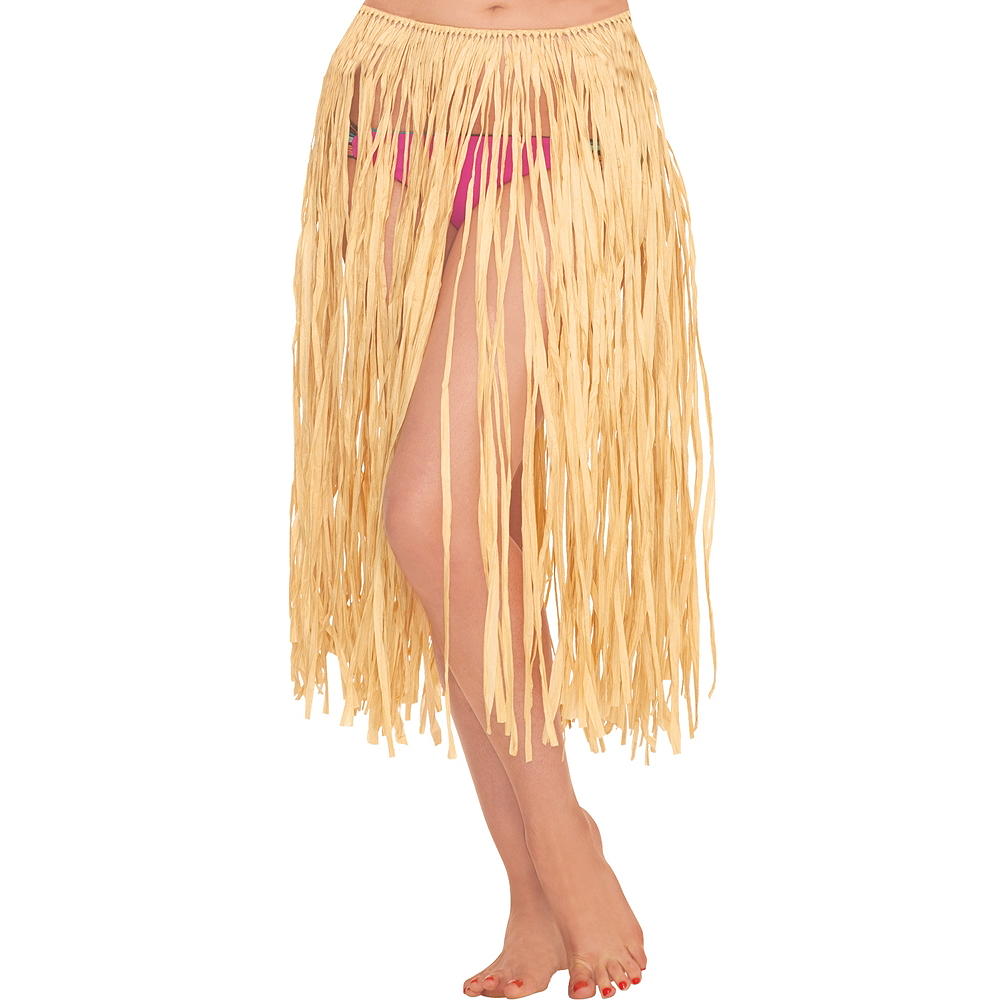 Adult Natural Grass Hula Skirt Image #1