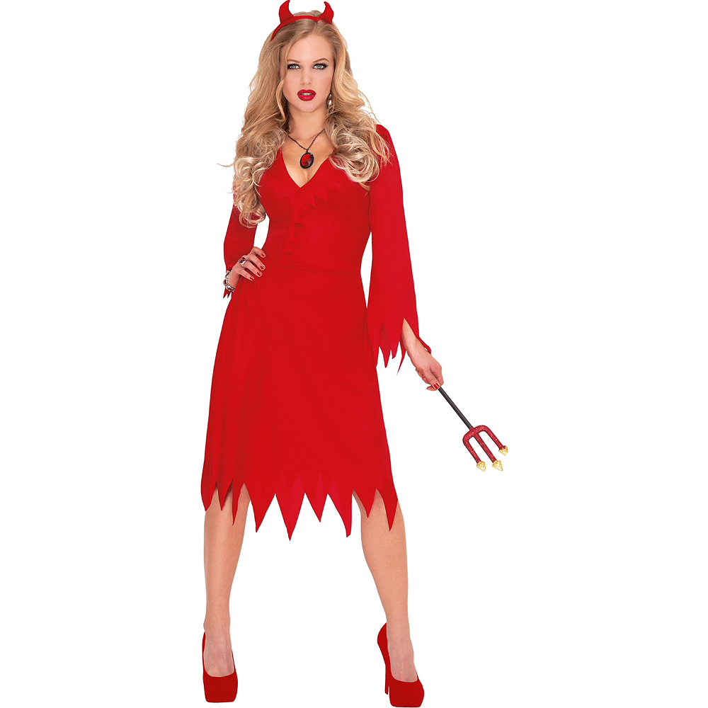 Nav Item for Adult Red Hot Devil Costume Image #1