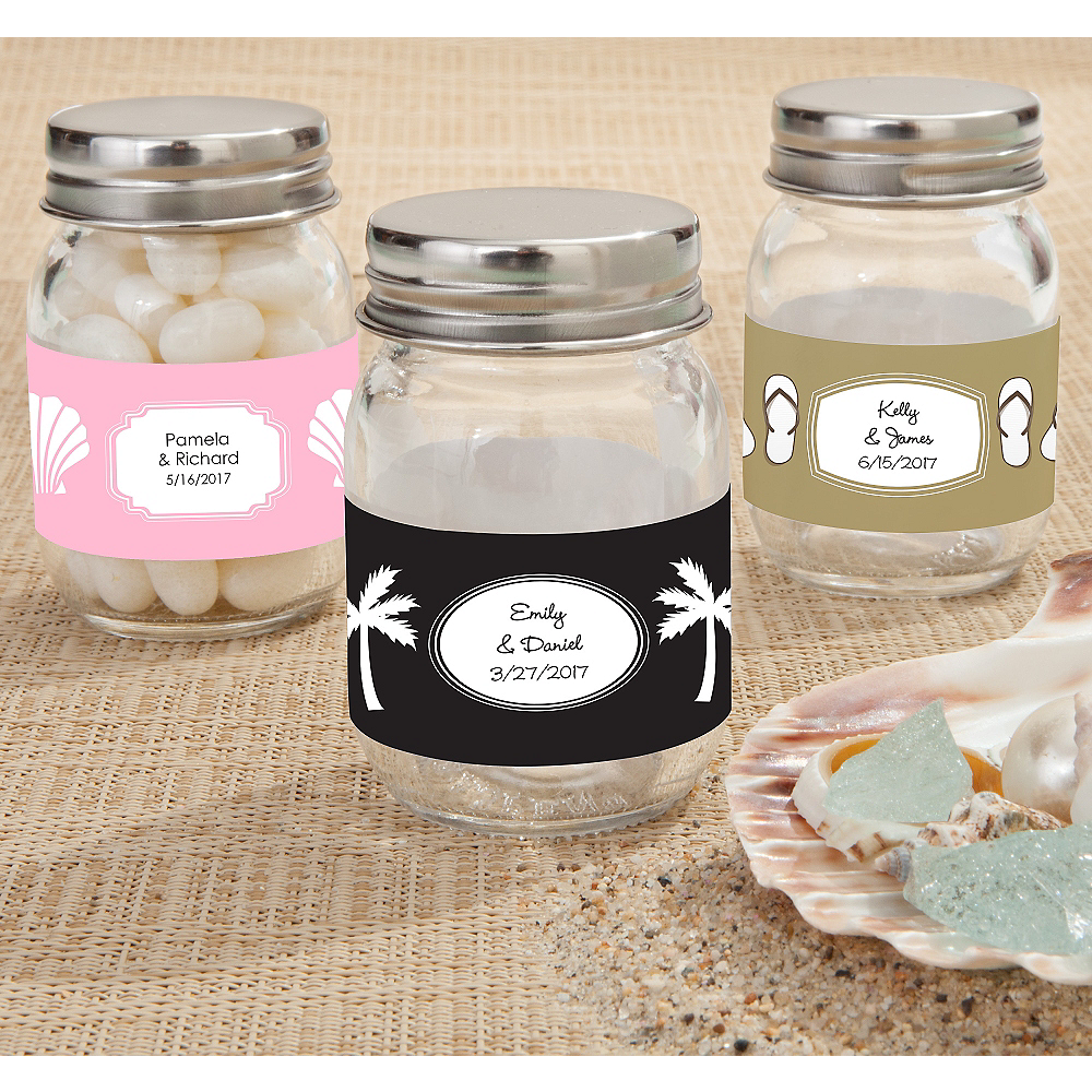 personalized mini glass mason jars br printed label br