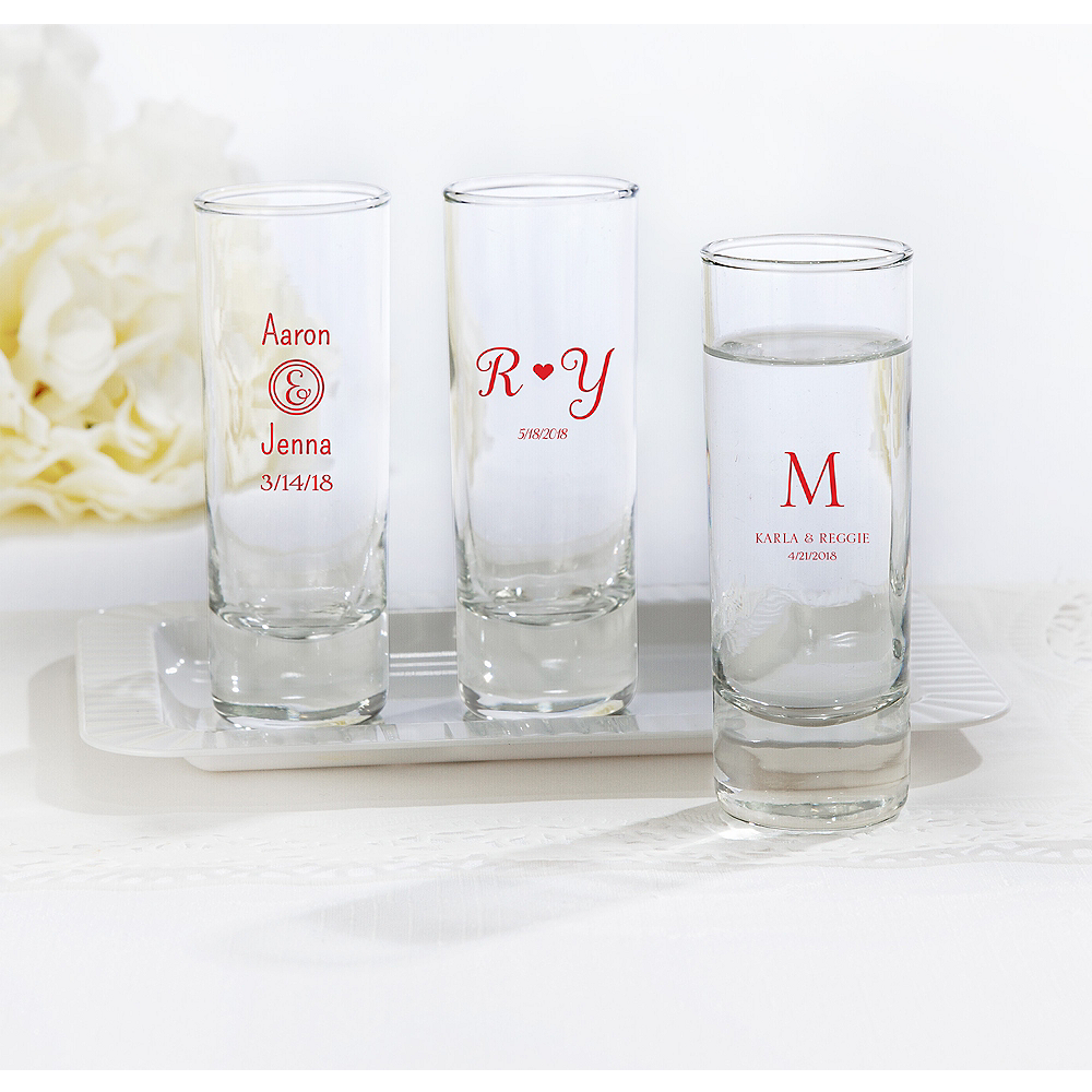 Personalized Tall Shot Glasses <br>(Printed Glass)</br ...